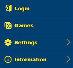 bingo liner mobile menu