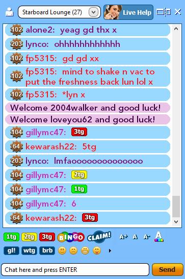 bingo liner live chat board