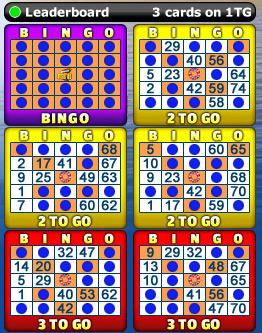 playing bingo liner 75 ball bingo game
