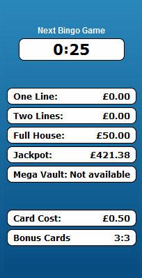 bingo liner 90 ball bingo game payouts prizes jackpots