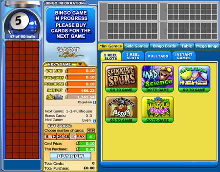 bingo liner 90 ball online bingo game