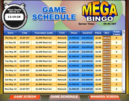 bingo liner mega bingo online bingo game