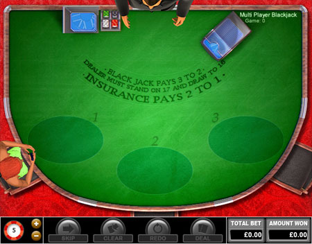 bingo liner multi-player blackjack online casino game