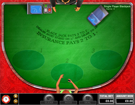 bingo liner single player blackjack online casino game