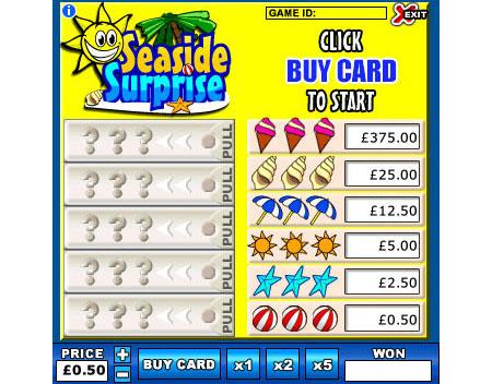 bingo liner seaside surprise online instant win game
