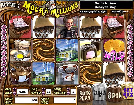 bingo liner mocha millions 5 reel online slots game