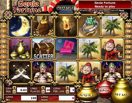 bingo liner genie fortune 5 reel online slots game