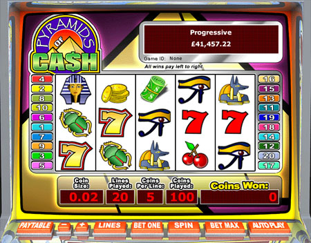 bingo liner pyramids of cash 5 reel online slots game